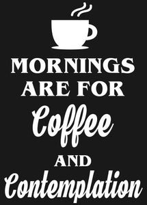 "Stranger Things ""Mornings are for Coffee 2..."" Vinyl Decal"