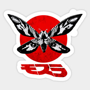Godzilla - Mothra with Japanese Name Full Color Vinyl Decal