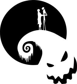 Nightmare Before Christmas Romance Vinyl Decal/Sticker