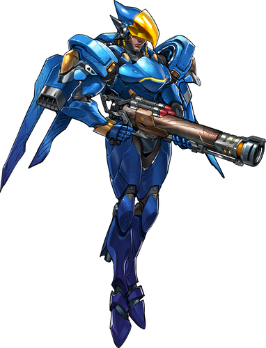 Anime Overwatch 'Pharah' Color Vinyl Decal Sticker