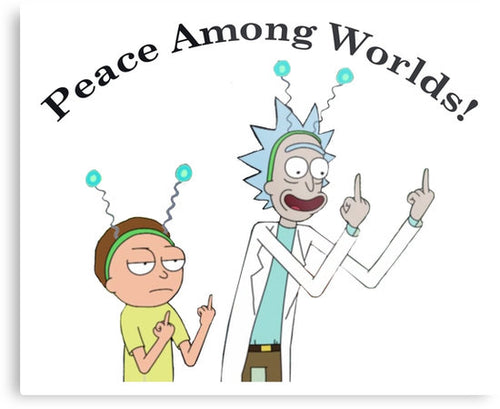 Rick & Morty 'Paece Among Worlds 2' Vinyl Color Decal
