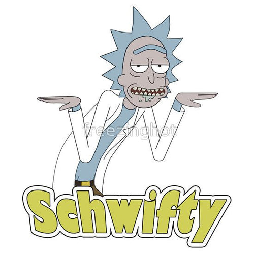 Rick & Morty 'Schwifty' Vinyl Color Decal