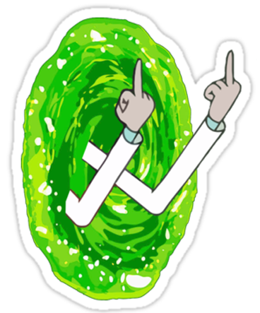 Rick & Morty 'Fingers Through the Warp' Vinyl Color Decal