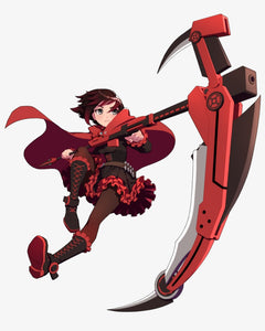Anime RWBY Ruby Rose Full Color Vinyl Decal