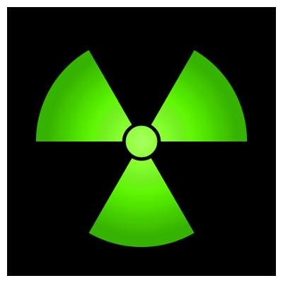 Radioactive Sign Color Vinyl Decal