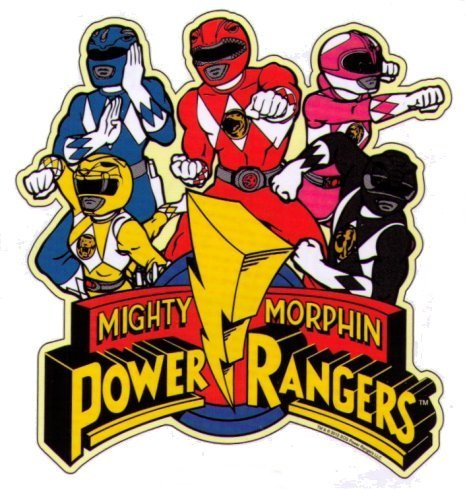 Power Ranger 2 Color Vinyl Decal