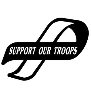 Support Our Troops Ribbon Vinyl Decal/Sticker