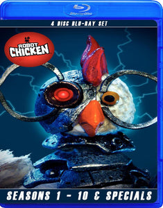ROBOT CHICKEN SEASONS 1-10 COMPLETE WITH THE SPECIALS BLU RAY!