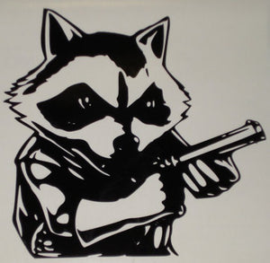 Guardians of the Galaxy Rocket Racoon Vinyl Decal/Sticker