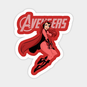 Wanda Vision - Scarlet Witch on the Avengers Logo Color Decal/Sticker