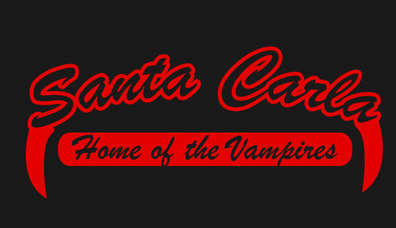 Santa Carla Black Color Vinyl Decal
