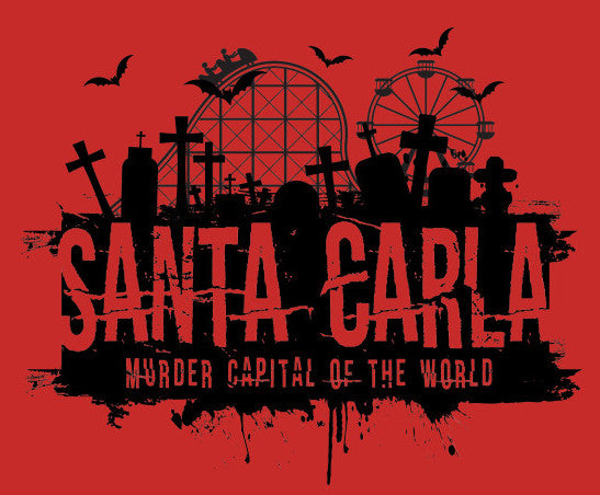 Santa Carla Red Color Vinyl Decal