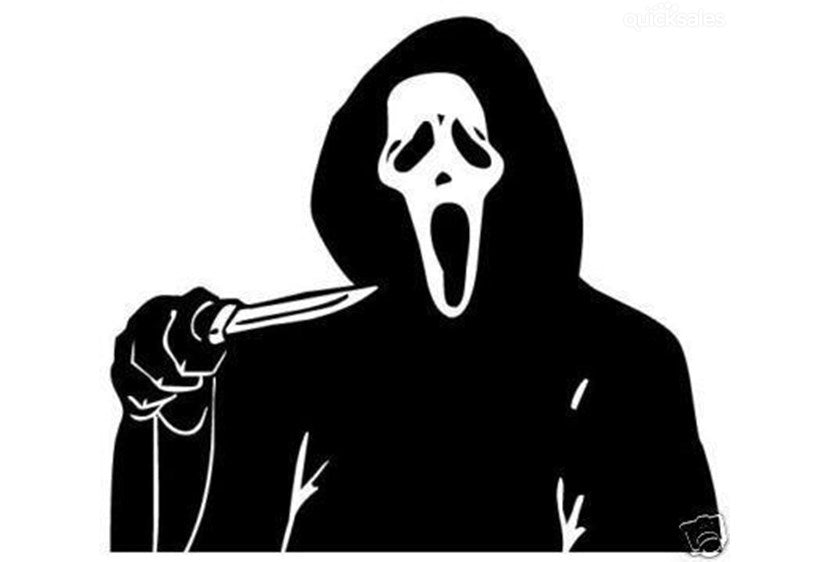Scream with Knife Vinyl Decal Sticker