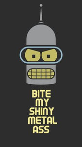 "Futurama ""Bender"" Color Vinyl Decal"
