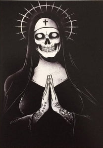 The Skull Nun Color Vinyl Decal