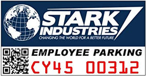 Stark Industries Employee Parking Color Vinyl Decal