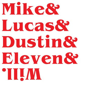 "Stranger Things ""Mike&Lucas&Destin&Eleven&Will"" Color  Vinyl Decal"