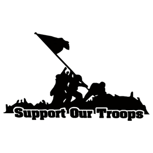 Iwo Jima Support our Troops Vinyl Decal/Sticker