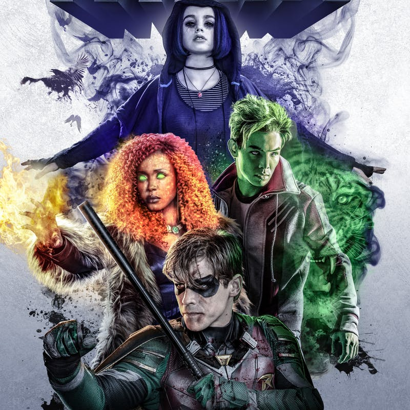 Titans Cast Color Vinyl Decal
