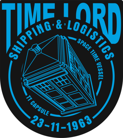 Time Lord Shipping Color Vinyl Decal