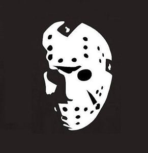 Jason Voorhees Mask Vinyl Decal Sticker