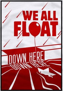 "IT ""We all float down here"" Color Vinyl Decal"
