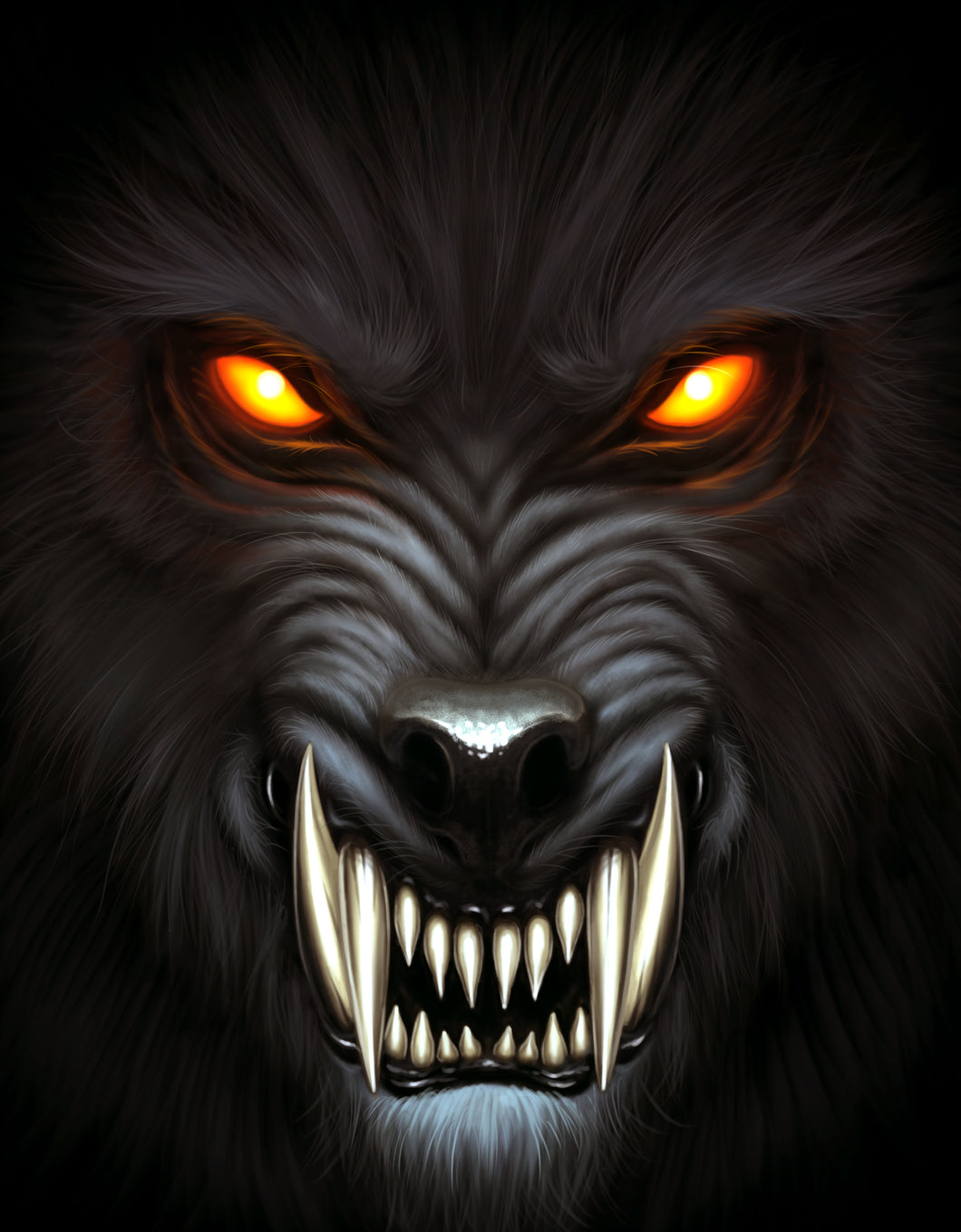 Werewolf Color Vinyl Decal