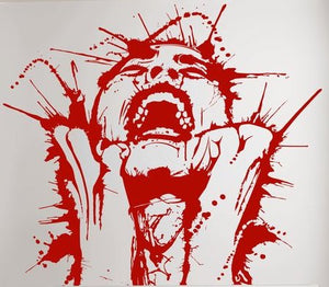 Blood Splatter Woman Color Vinyl Decal