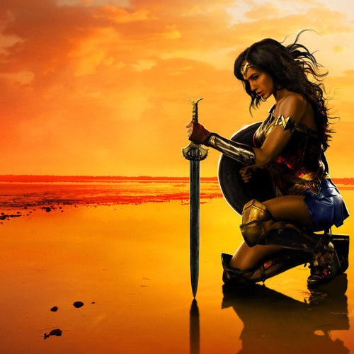 Wonder Woman 'Kneeling' Post-A-Cal™