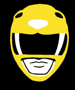 Yellow Power Ranger Vinyl Decal Sticker
