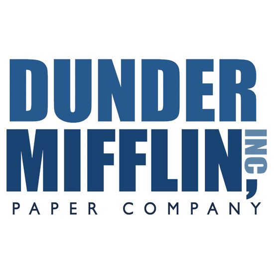 The Office Dunder Mifflin Color Vinyl Decals