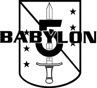 Babylon 5 Logo Vinyl Decal/Sticker