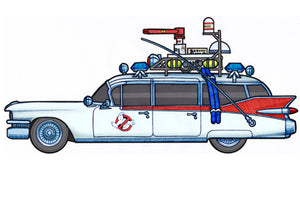Ghostbusters Ecto-1 Color Vinyl Decal