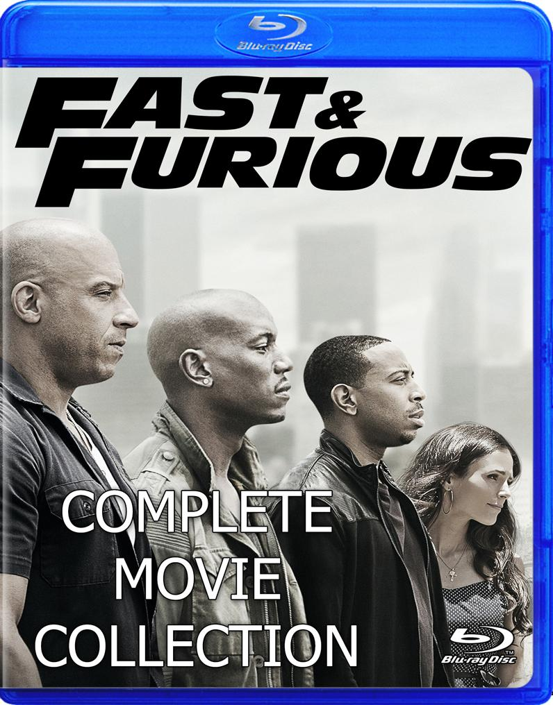 Fast and Furious Complete Collection all 8 Movies on Blu-ray 1080p!