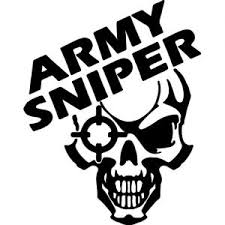 Army Sniper Vinyl Decal/Sticker