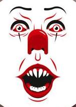 IT:  Pennywise Face Color Vinyl Decal