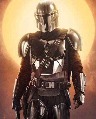 Mandalorian by Sun Decal Sticker