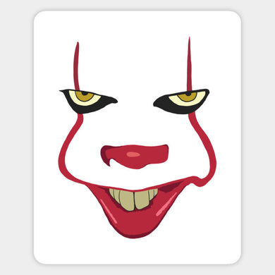 IT:  Pennywise Face 2 Color Vinyl Decal