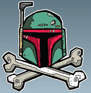 Mandalorian Helmet Drawing Decal Sticker