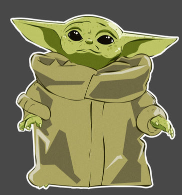 Mandalorian Baby Yoda Standing Decal Sticker