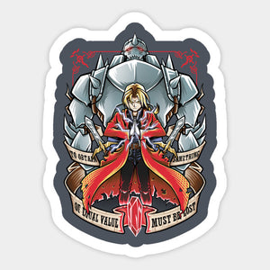 Anime Full Metal Alchemist Brotherhood Color Vinyl Decal/Sticker 2
