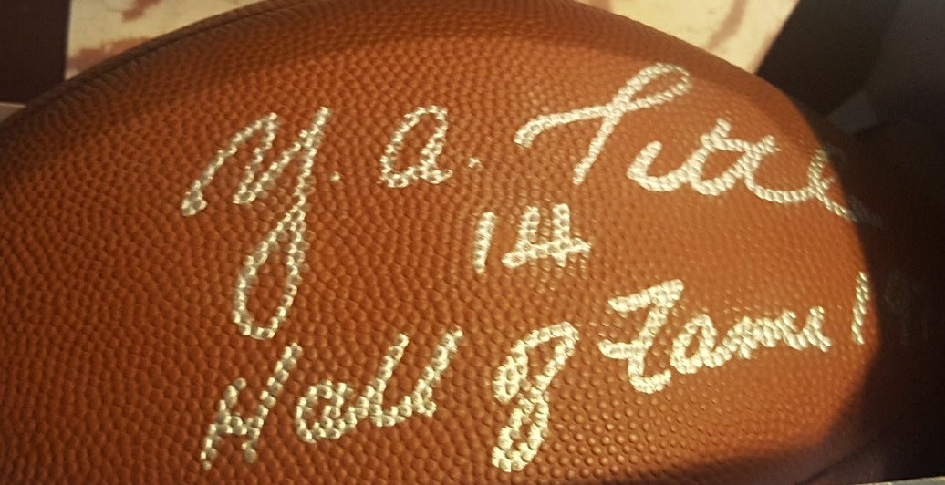 Y A Tittle signed Official NFL Football