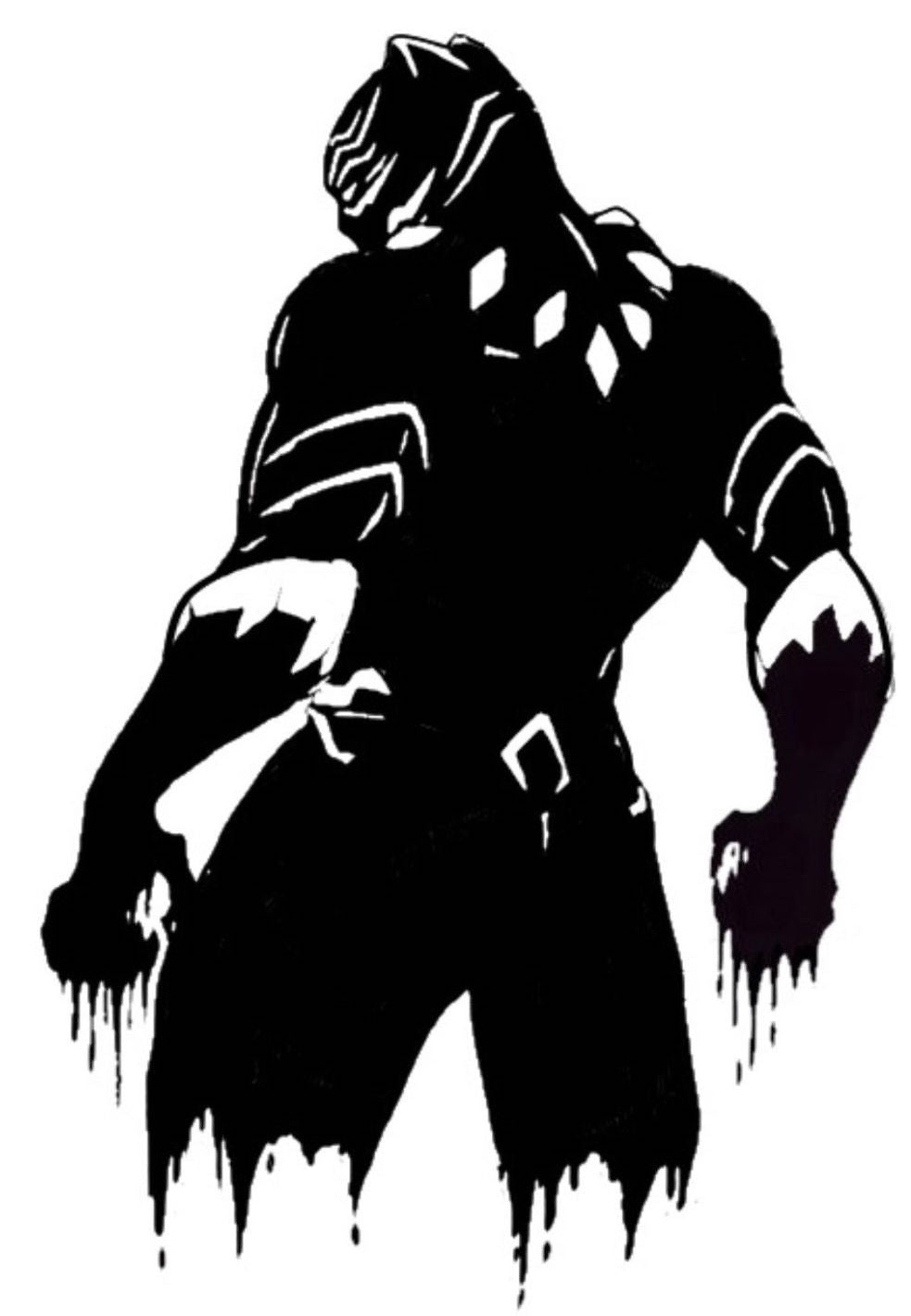 Black Panther Back View Vinyl Decal/Sticker