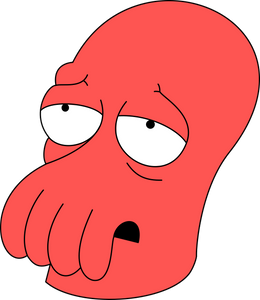 "Futurama ""Zoidberg"" Color Vinyl Decal"