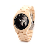 BOBO BIRD Wood Watch for Men with Deer Design B-H02 - HyperbrainStudios.com
