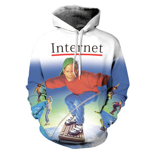 Fashion 3D printed hoodie pullovers - The Internet. - HyperbrainStudios.com