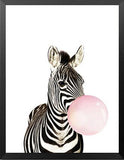 Nordic Cute Animals Zebra Giraffe Panda Canvas Painting Cartoon Bubbles Balloon Print Poster Canvas Art For Child Room HD2178 - HyperbrainStudios.com