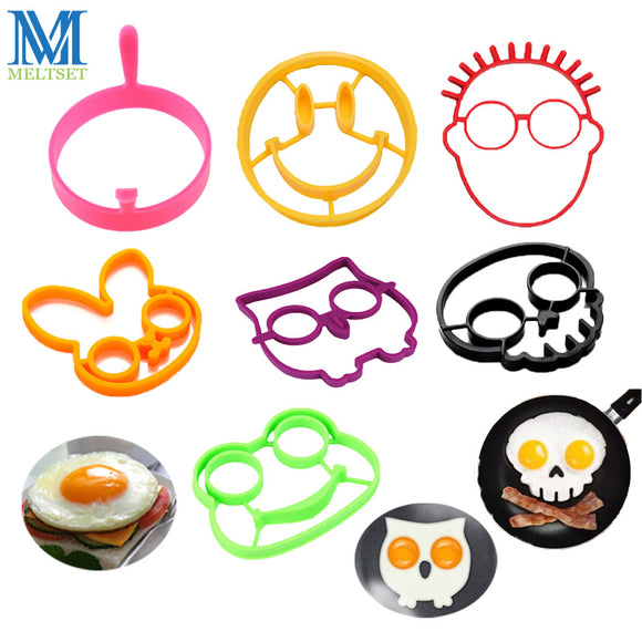 1PC Silicone Egg Ring Mold for Eggs or Pancakes. Owl, Rabit, Smiley Face, Frog, Scull. - HyperbrainStudios.com
