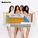 Periodic Table of the Elements Chemistry Bathroom Towel, 6 Styles, 4 Sizes - HyperbrainStudios.com