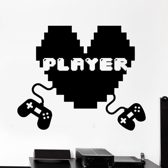 Video Game Sticker Player Decal, Gaming Vinyl Wall Decals, 19 Colors to Choose!  Video Game Sticker. - HyperbrainStudios.com